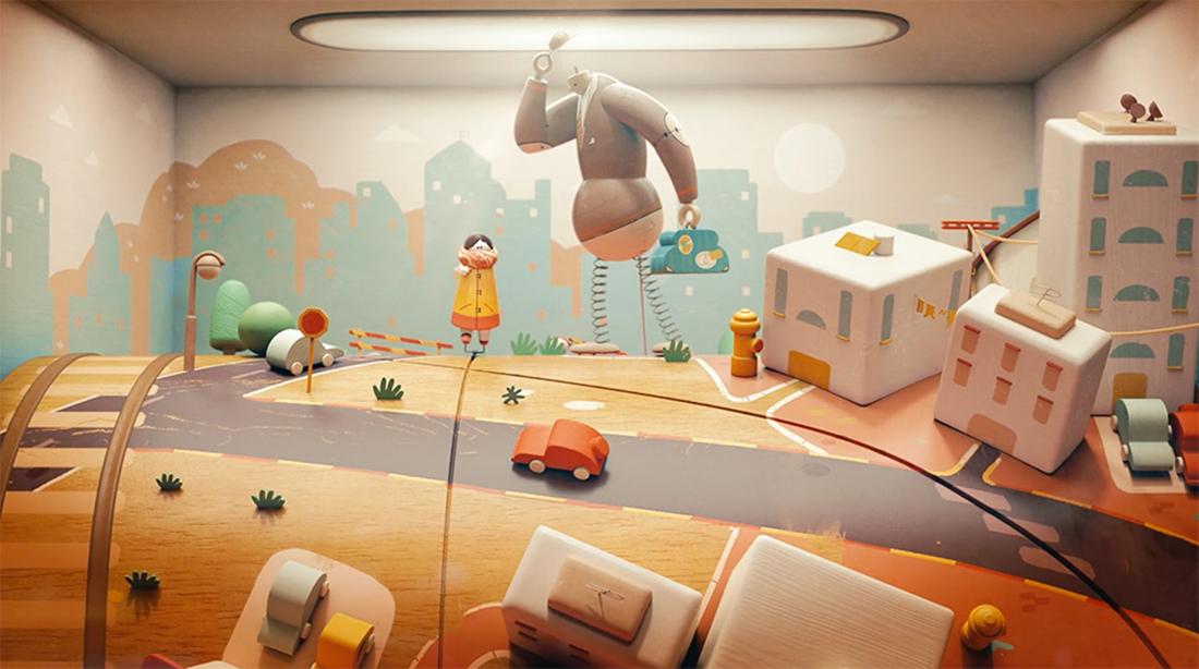 Jane Bordeaux's Ma'agalim 3D animation soft music video clip