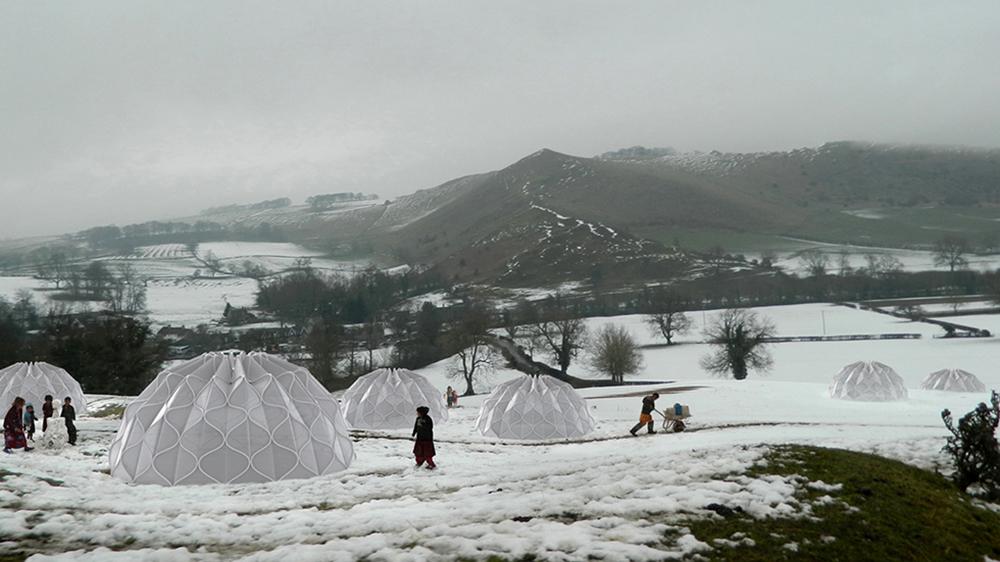 Rain water and sun energy storage tent