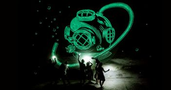 Reskate - Street Art - Glowing Paint - Asombrar