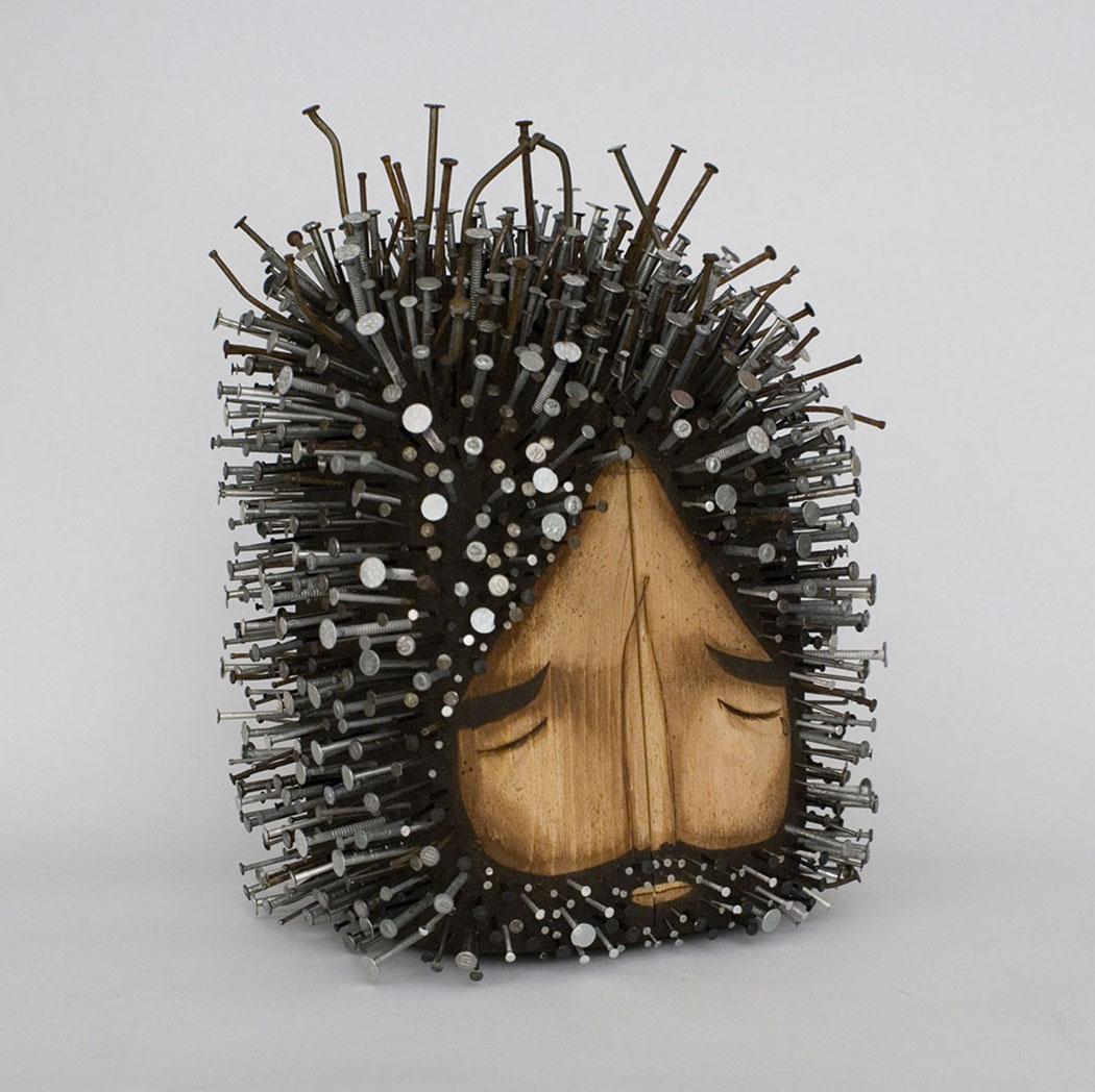 Jaime Molina - Wooden Sculptures - Ahşap Heykel - Figurative - Mixed matterial