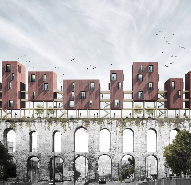 Mimarlık - Superspace - Metsa Wood - the City Above the City - Second Prize - Fatih Mimarlık Projesi