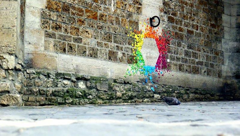 Sanat - Sokak Sanati - Enstelasyon - Kağıt Katlama Sanatı - Origami - Mademoiselle Maurice - Hong Kong - Vietnam - 2012