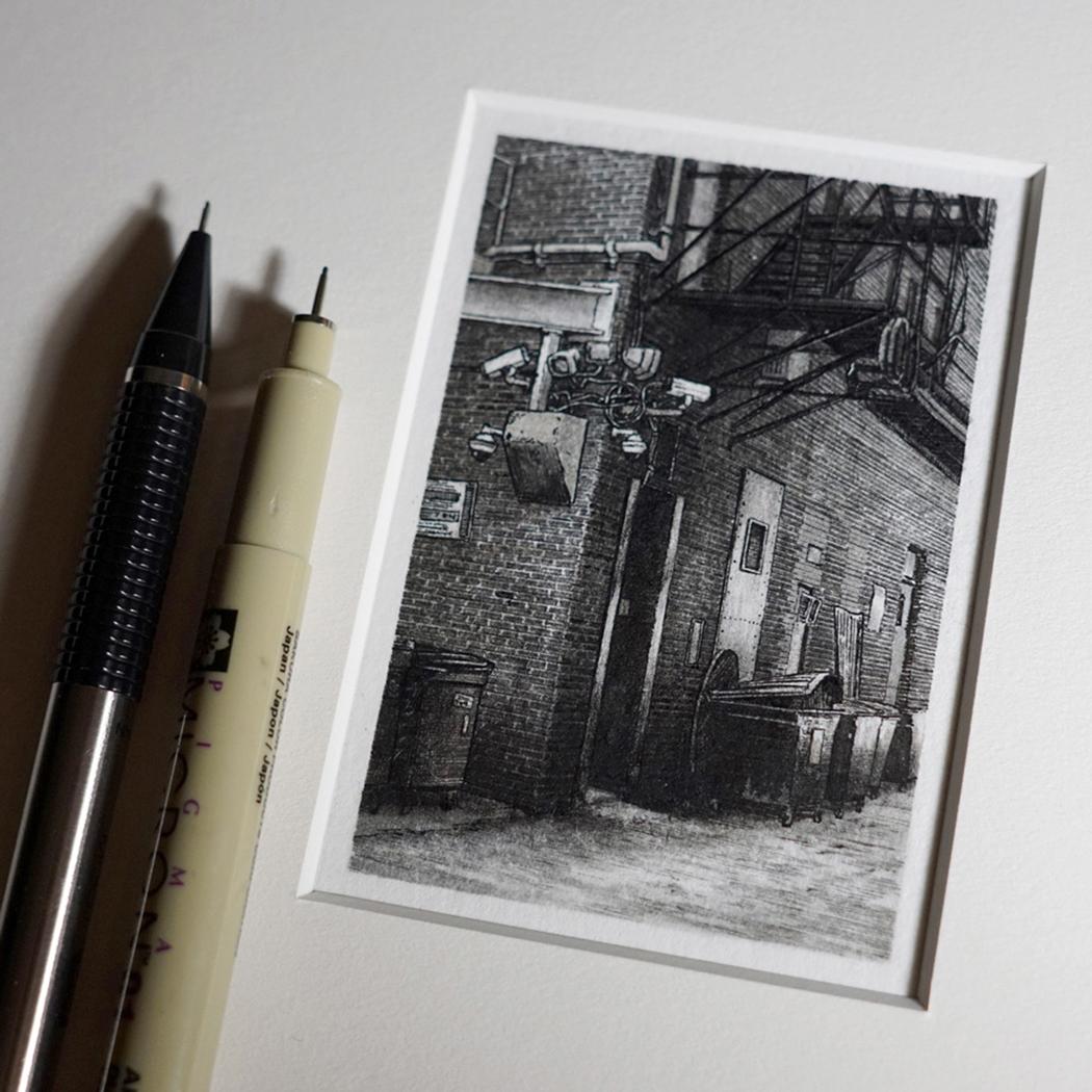 Sanat - illüstrasyon - Minyatür - Taylor Mazer - Micron Drawing - Illustration