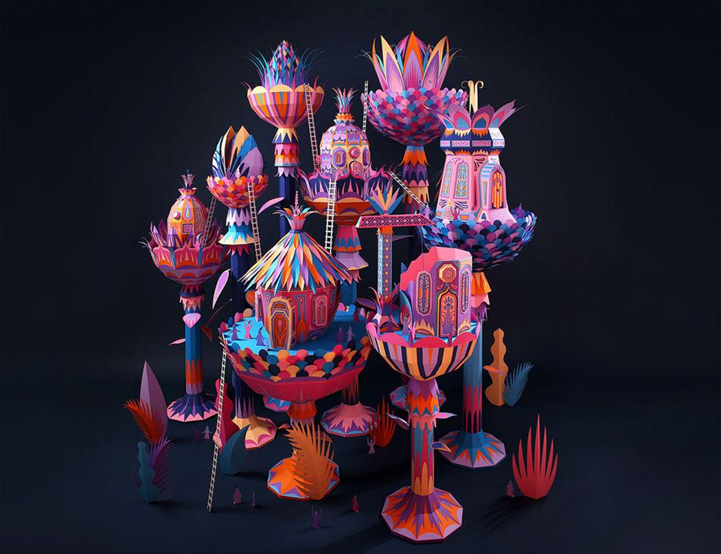 Sanat - El Sanatlari - Kolaj - Illustration - Zim & Zou - Papercraft