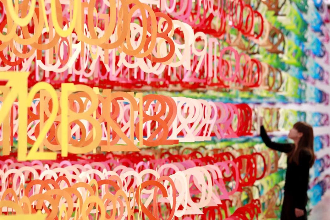Sanat - Enstelasyon - Emmanuelle Moureaux - Forest Numbers - Rainbow Numbers - Colors - Renkler - Rakamlar