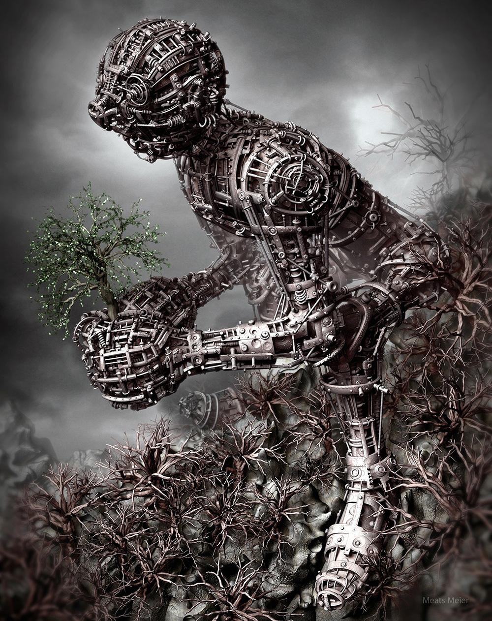 Crea.Tips - Sanat - Dgital Art - Dijital Sanat - Meats Meier -3D - illüstrasyon - The Last Of The Leaves