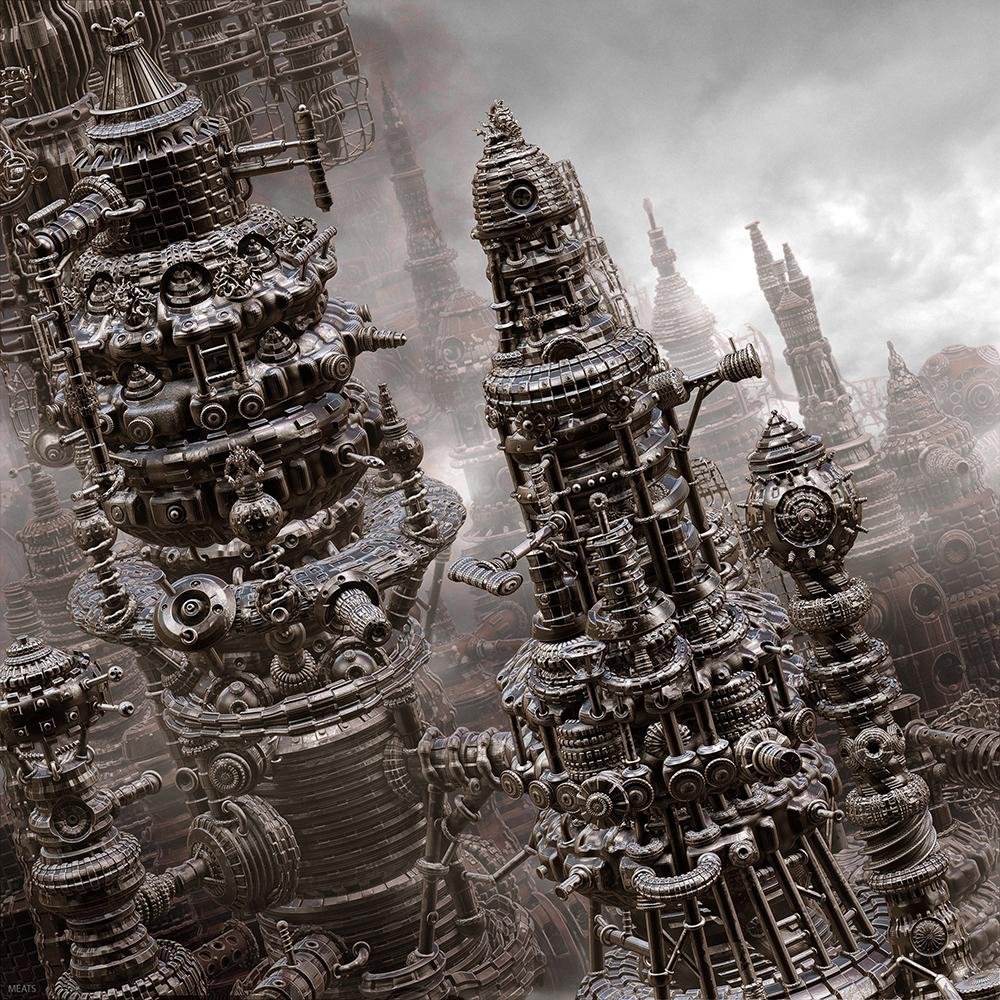 Crea.Tips - Sanat - Dgital Art - Dijital Sanat - Meats Meier -3D - illüstrasyon - The Primitive City