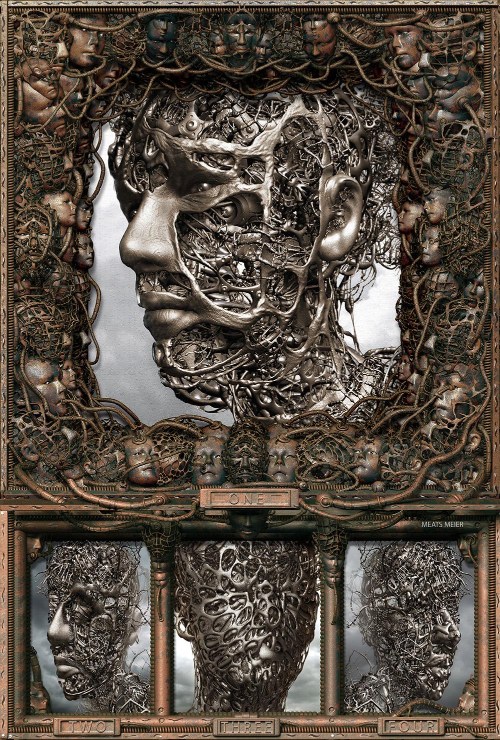 Crea.Tips - Sanat - Dgital Art - Dijital Sanat - Meats Meier -3D - illüstrasyon - Wire Heads
