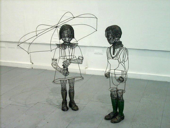 Crea.Tips - Sanat - Heykel - Roberto Fanari - Wire - Sculpture - Tel Figür