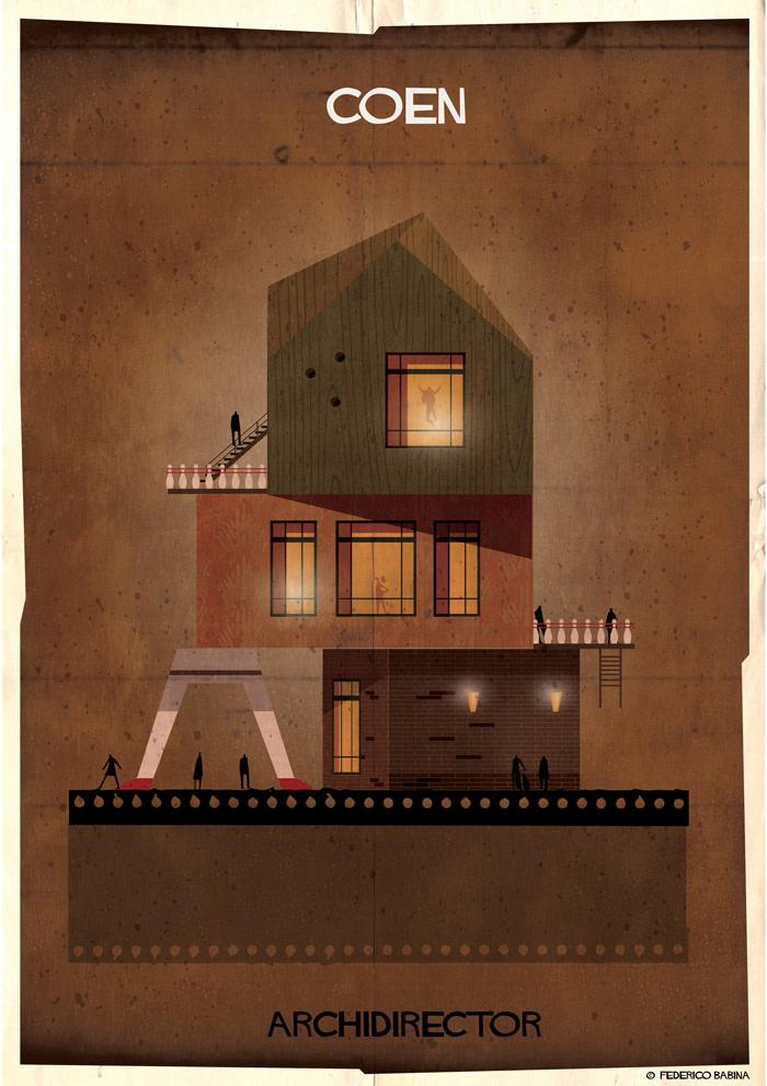 Crea.Tips-Sanat-illustrasyon-Film-yonetmen-Federico-Babina-ARCHIDIRECTOR-Coen-Brothers