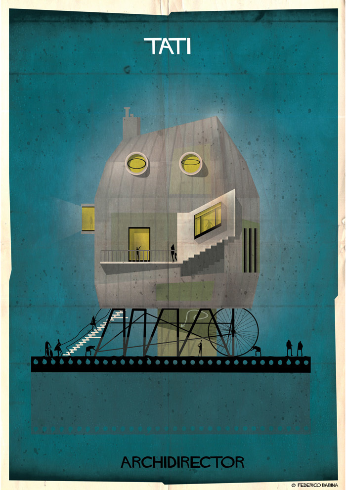 Crea.Tips-Sanat-illustrasyon-Film-yonetmen-Federico-Babina-ARCHIDIRECTOR-Jacques-Tati