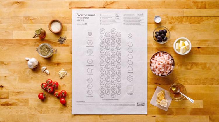 Crea.Tips - Tasarım - Reklam - Kampanya - IKEA - COOK - THIS PAGE - Kolay Yemek Tarifi