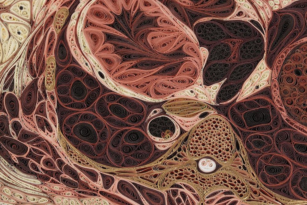 Crea.Tips - Sanat - Kağıt Oymacılığı - Lisa Nelsson - Art - Quilling - Anatomy