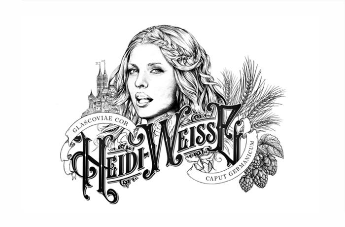 Crea.Tips - Tasarım - Grafik Tasarım - Ambalaj Tasarımı - Graphic Design - Illustrative Package Design - Heide Weisse Beer