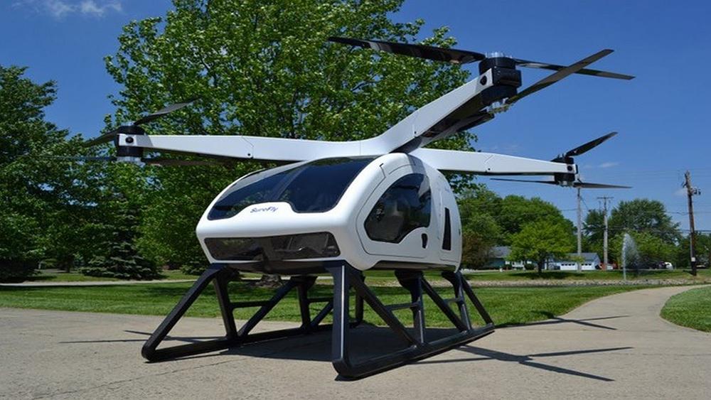 Crea.Tips - Teknoloji - Tasarım - SureFly - Octocopter - İnsan Taşıyabilen Dev Drone