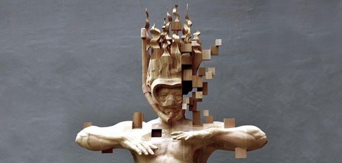 Dijital ile Geleneksel'in Çatıştığı Figüratif Ahşap Heykeller – HSU TANG HAN