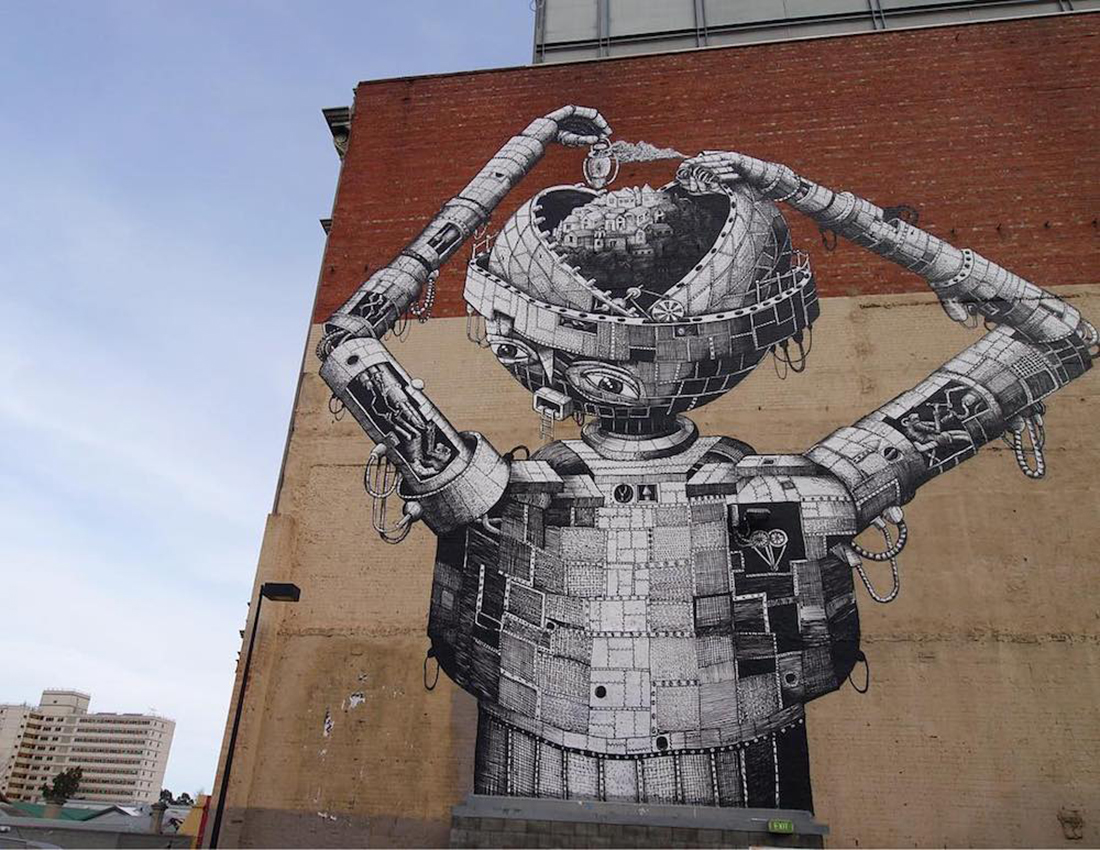 Crea.Tips - Art - Street Art - Phlegm - Comic Book Style Murals - Sokak Sanatı