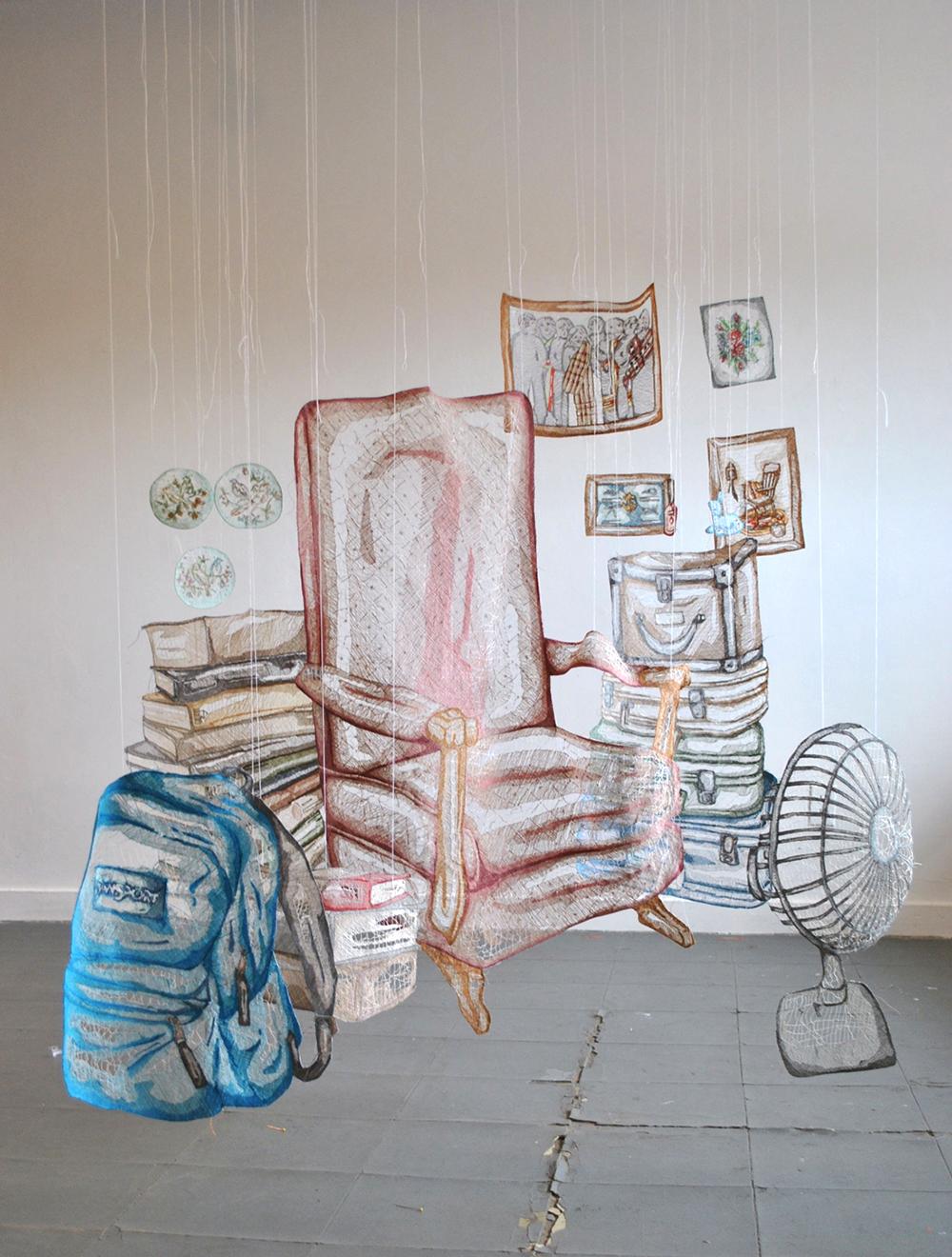 CT - Sanat - Tekstil - Enstelasyon - Lif Sanatı - Fiber Art - Amanda McCavour - Yaratıcı Fikir