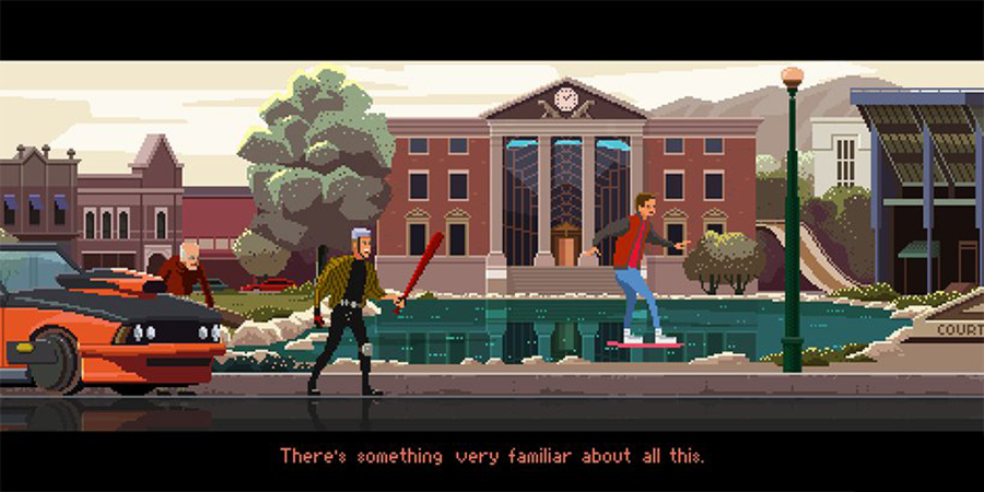 Crea.Tips - Sanat - İllüstrasyon - Pixel Art - 8-bit - Movie - Scenes - Gustavo Viselner - Back to The Future