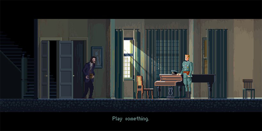 Crea.Tips - Sanat - İllüstrasyon - Pixel Art - 8-bit - Movie - Scenes - Gustavo Viselner - The Pianist