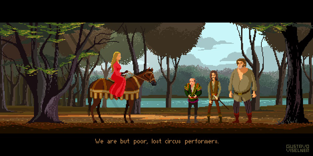 Crea.Tips - Sanat - İllüstrasyon - Pixel Art - 8-bit - Movie - Scenes - Gustavo Viselner - The Princess Bride