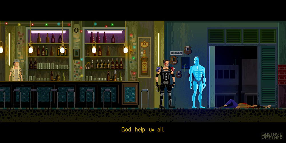 Crea.Tips - Sanat - İllüstrasyon - Pixel Art - 8-bit - Movie - Scenes - Gustavo Viselner - Watchmen